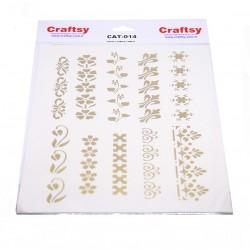 Craftsy Gold Hollow Edge Ornament Transferi CAT-014