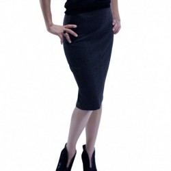 Jimmy Key Combed Cotton Pencil Skirt
