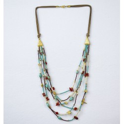 Special Design Semi Precious Stones Necklace