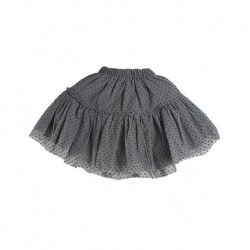 Zara Kids Gray Polka Dotted Child Skirt