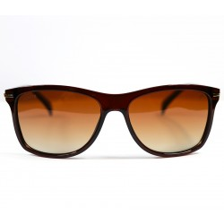 Club Ellesse Square Model Brown Bone Frame Sunglasses