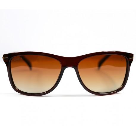 Club Ellesse Square Model Brown Bone Frame Sunglasses