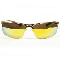 Ellesse Sport Yellow Metal Mirrored Glass Sunglasses