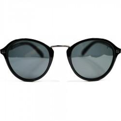 Ellesse Siyah Camlı Metal Burunluklu Yuvarlak Model Parlak Çerçeve Güneş Gözlüğü