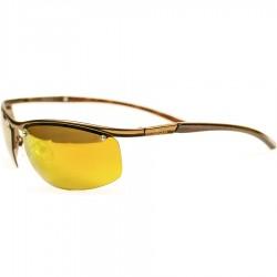 Ellesse Sport Model Metal Çerçeveli Sarı Aynalı Camlı Vidalı Güneş Gözlüğü
