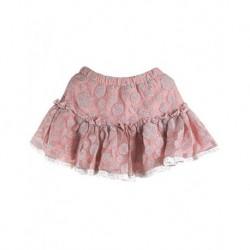 Zara Kids Pudra Rengi Puantiyeli Çocuk Eteği