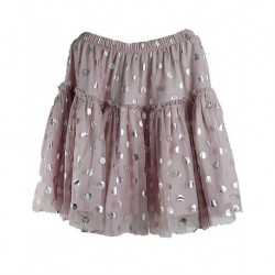Zekids Sparkle Pink Polka dot skirt children