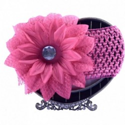 Dark Pink Daisy Hair Band