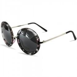 Steampunk Round Floral Women's Sunglasses