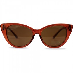 Steampunk Slant Eyed Cat Model Brown Framed Sunglasses