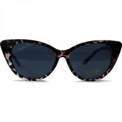 Steampunk Slant Eyad Cat Model Leopard Framed Sunglasses