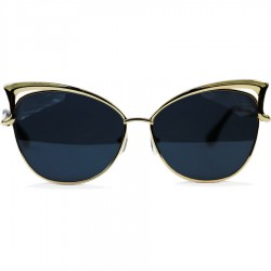 Cat Model Sarı Renk Metal Çerçeveli Siyah Camlı Güneş Gözlüğü