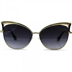 Cat Model Sarı Renk Metal Çerçeveli Siyah Değrade Camlı Güneş Gözlüğü
