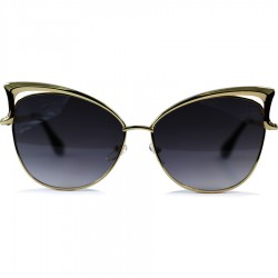 Cat Model Yellow Color Metal Frame Black Degree Glass Sunglasses