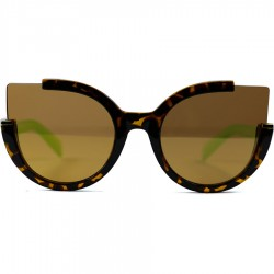 Auto Model Brown Mirrored Glass Sunglasses