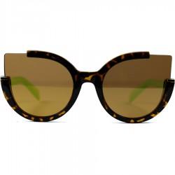 Steampunk Auto Model Brown Mirrored Glass Sunglasses
