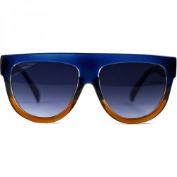 Hand Polish Viktorya Model All Framed Blue Sunglasses