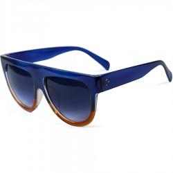 Hand Polish Viktorya Model All Framed Blue Sunglasses