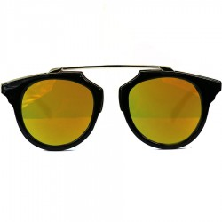 Steampunk Noseless Model Yellow Mirror Sunglasses