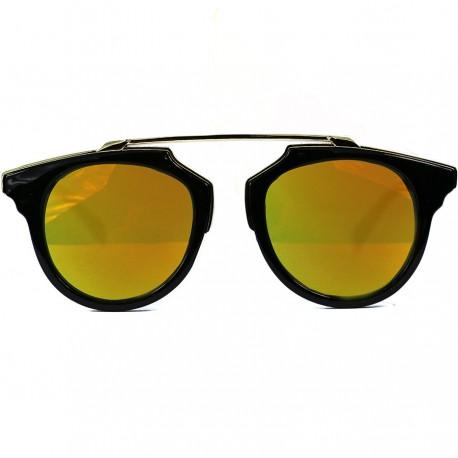 Steampunk Noseless Model Sarı Aynalı Güneş Gözlüğü