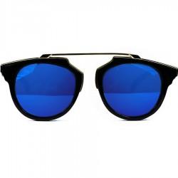 Steampunk Noseless Model Blue Mirror Sunglasses