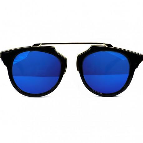 Steampunk Noseless Model Mavi Aynalı Güneş Gözlüğü