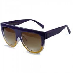 Hand Polish Viktorya Model All Framed Purple Sunglasses