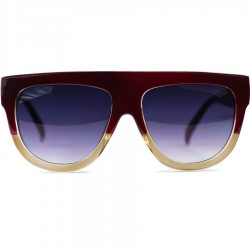 Hand Polish Viktorya Model All Framed Burgundy Sunglasses
