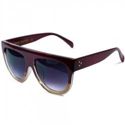 Hand Polish Viktorya Model All Framed Burgundy Sunglasses