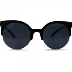 Yuvarlak Yarım Cat Model Siyah Çerçeveli Güneş Gözlüğü