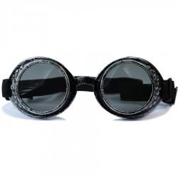 Gothic Steampunk Motorist Model Black Glass Antique Silver Color Unisex Sunglasses