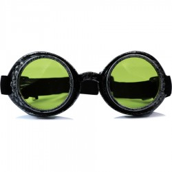 Gothic Steampunk Motorist All Model Black Glass Antique Silver Color Unisex Sunglasses