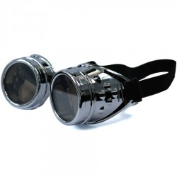 Gothic Steampunk Motorcu Model Silver Rengi Framed Unisex Sunglasses