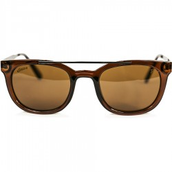 Ellesse Bone Framed Brown Metal Arched Sunglasses