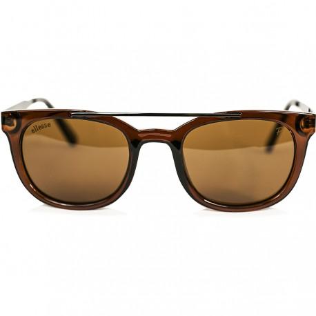 Ellesse Bone Framed Brown Metal Arched Sunglasses