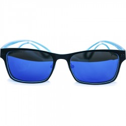 Ellesse Dual Color Modelli Aluminum Framed Blue Mirror Sunglasses