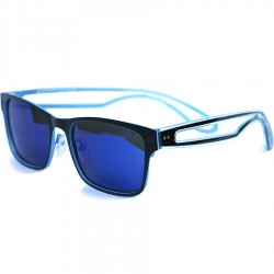 Ellesse Dual Color Modelli Aluminum Framed Blue Mirror Sunglasses