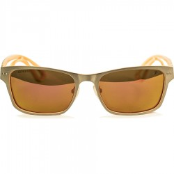 Ellesse Double Color Model Aluminum Framed Orange Mirrored Sunglasses