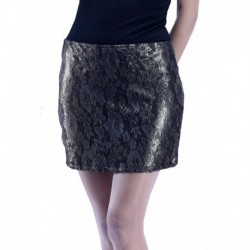 Jimmy Key Lace Detail Sequined Skirt