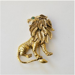 FashionMoon Lion Figure Brooch