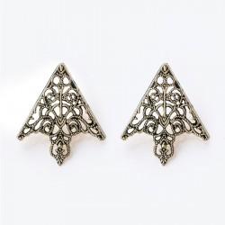 FashionMoon Gothic Patterned Collar Ucu Brooch