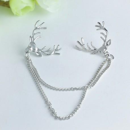 FashionMoon Deer Chain Collar Ucu Brooch