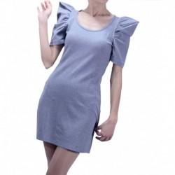 Jimmy Key Combed Cotton Grey Mini Dress