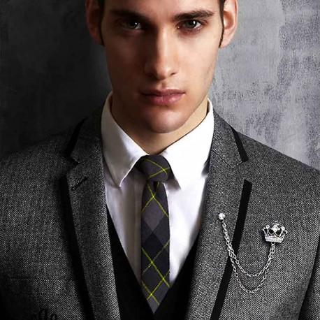 FashionMoon Kraliyet Tacı Şeklinde Erkek Broşu