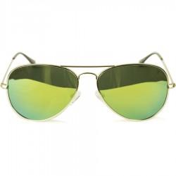 Ellesse Sport Damla modeli Sarı Metal Çerçeveli Yeşil Aynalı Güneş Gözlüğü