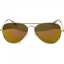 Ellesse Sport Damla Model Sarı Metal Çerçeveli Kahverengi Aynalı Güneş Gözlüğü