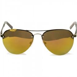 Ellesse Sport Damla Modeli Sarı Metal Yarım Çerçeveli Kahverengi Aynalı Güneş Gözlüğü