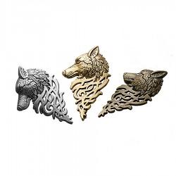 Fashion Moon Punk Wolf Pattern Necklace Brooch