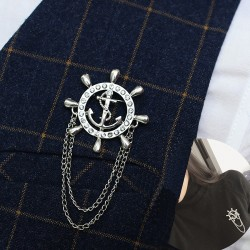FashionMoon Mariner Inlaid Model Chain Necklace Brooch