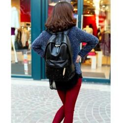 Fondhere Model Siyah Renk Pullu Sırt Çantası